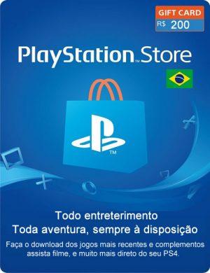 Cartão PSN 200 Reais Digital – Playstation Network Br 100+100