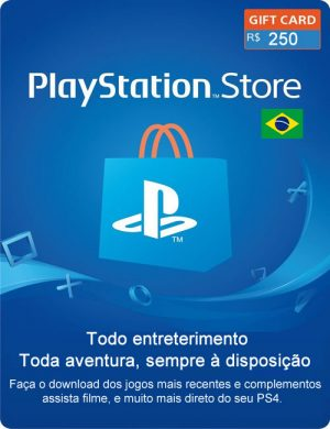 Cartão PSN 250 Reais Digital – Playstation Network Br