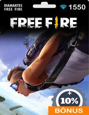 Free Fire 1550 Diamantes + 10% de Bônus