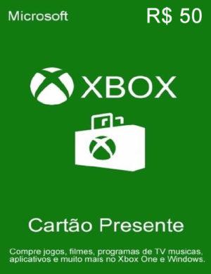 Cartão Microsoft Xbox R$ 50 Reais