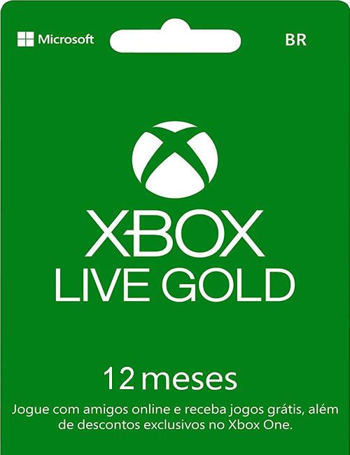 Cartão Assinatura Gold 12 Meses Xbox Live Digital
