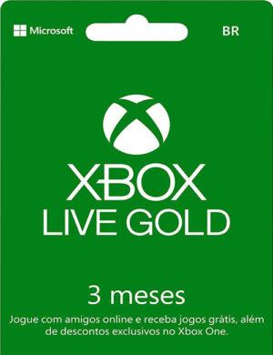 Cartão Assinatura Gold 3 Meses Xbox Live Digital