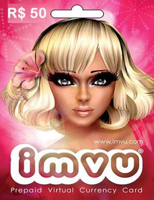 Cartão IMVU R$ 50 Reais Digital
