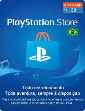 Cartão PSN R$ 30 Reais Digital