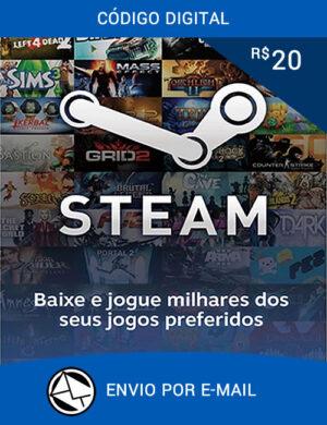 Cartão Steam R$ 20 Reais
