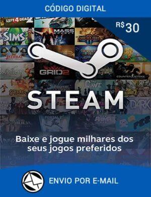Cartão Steam R$ 30 Reais